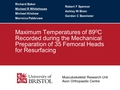 Maximum temperatures of 89.2 degrees C recorded during the meachanical preparation of 35 femoral heads for resurfacing