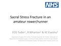 Sacral stress fracture in an amateur rower/runner