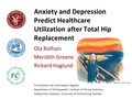 Anxiety and depression predict healthcare utilization after total hip replacement