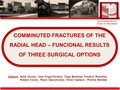 Radial head fractures - comparison of different methods of treatment