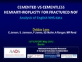 Cemented versus uncemented hemiarthroplasty for fractured neck of femur - a comparison of 60,848 matched patients using national data