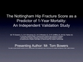 The Nottingham hip fracture score as a predictor of mortality:  An independent validation study