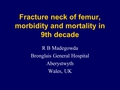 Fracture neck of femur, morbidity and mortality in 9th decade