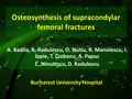 Osteosynthesis of supracondylar femoral fractures