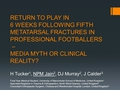 Return to play in 6 weeks following fifth metatarsal fracture in professional footballers - media myth or clinical reality?