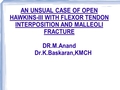 An unusual case of irreducible Hawkins Type-3 talus fracture with long flexor interposition and medial and posterior malleoli fracture