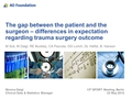 The gap between the patient and the surgeon - differences in expectation regarding trauma surgery outcome