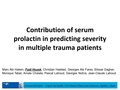 Contribution of serum prolactin in predicting severity in multiple trauma patients