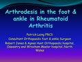 Arthrodesis in the foot & ankle in RA