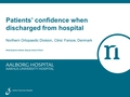 Confidence at discharge from hospital after a total hip- or knee-arthroplasty