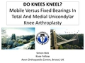 Kneeling ability after fixed or mobile bearing knee replacement