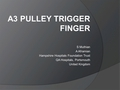 The A3 pulley Trigger finger