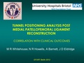 Tunnel positioning analysis post medial patellofemoral ligmanent reconstruction. Correlation with clinical outcomes