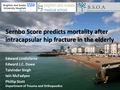 Sernbo score predicts mortality after intracapsular hip fracture