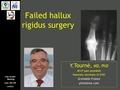 Failed Hallux Rigidus Surgery