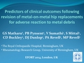 Predictors Of Clinical Outcomes Following Revision Of Metal-On-Metal Hip Replacements For Adverse Reaction To Metal Debris