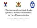 Effectiveness Of Antibiotic-Laden Synthetic Bone Graft Materials: In Vitro Characterisation