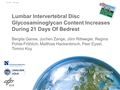 Lumbar Intervertebral Disc Glycosaminoglycan Content Increases During 21 Days Of Bedrest