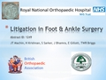 Litigation In Foot & Ankle Surgery