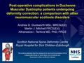 Rate And Risk Factors For Post-Operative Complications In Patients With Duchenne Muscular Dystrophy Undergoing Scoliosis Surgery: A Comparison To Other Neuromuscular Conditions