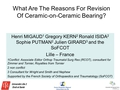 What Are The Reasons For Revision Of Ceramic-On-Ceramic Bearing In Total Hip Arthroplasty : A Multicenter Prospective Study Over Two Years