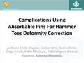 Complications Using Absorbable Pins For Hammer Toes Deformity Correction
