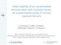 Initial Stability Of An Uncemented Femoral Stem With Modular Necks. An Experimental Study In Human Cadaver Femurs.
