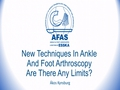 New Techniques In Ankle And Foot Arthroscopy, Are There Any Limits?