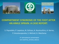 Compartment Syndrome Of The Foot After An Ankle Sprain. A Case Report.