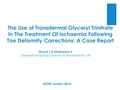 The Use Of Transdermal Glyceryl Trinitrate In The Treatment Of Ischaemia Following Toe Deformity Correction: Case Report
