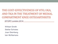 Age-Stratified Cost-Effectiveness Of Total Knee Arthroplasty, Unicompartmental Knee Arthroplasty, And High Tibial Osteotomy In The Treatment Of Medial Compartment Knee Osteoarthritis
