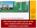 Post-Arthroscopic Septic Arthritis Of The Knee. Analysis Of The Outcome After Treatment In A Case Series