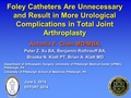 Foley Catheters Are Unnecessary And Result In More Urological Complications In Total Joint Arthroplasty