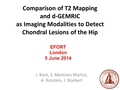 Comparison Of T2 Mapping ,Dgemric And Proton Density MRI As Imaging Modalities To Detect Chondral Lesions Of The Hip
