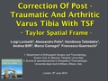 Correction Of Post-Traumatic And Arthritic Varus Tibia WithTSF -Taylor Spatial Frame