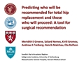 Predicting Who Will Be Recommended For Total Hip Replacement
