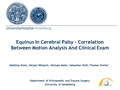 Equinus In Cerebral Palsy - Correlation Between Motion Analysis And Clinical Exam