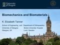 Biomechanics Of Musculoskeletal Tissue - Biomaterials
