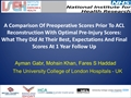 A Comparison Of Pre-Operative Scores Prior To ACL Reconstruction With Optimal Pre-Injury Scores: What They Did At Their Best, Expectations And Final Scores At 1-Year Follow-Up