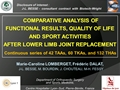 Comparative Analysis Of Functional Results, Quality Of Life, And Sport Activities, After Lower Limb Joint Replacement. A Continuous Series Of 42 TAAs, 60 TKAs And 132 THAs