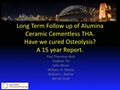 Long-Term Follow-Up Of Alumina/Alumina Ceramic Cementless THA. Have We Cured Osteolysis? A 15-Year Report