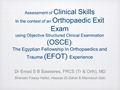 Assessment Of Clinical Skills In The Context Of An Orthopaedic Exit Exam Using Objective Structured Clinical Examination (OSCE): The Egyptian Fellowship In Orthopaedics And Trauma (EFOT) Experience