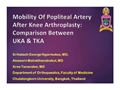 Mobility Of Popliteal Artery After Knee Arthroplasty: Comparison Between UKA And TKA