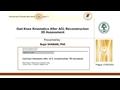 Gait Knee Kinematics After ACL Reconstruction – 3D Assessment