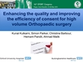 Enhancing The Quality And Improving Their Efficiency Of Consent For High Volume Orthopaedic Surgery