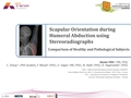 Scapular Orientation During Humeral Abduction Using Stereoradiographs: Comparison Of Healthy And Pathologic Subjects