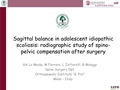 Sagittal Balance In Adolescent Idiopathic Scoliosis: Radiographic Study On Spino-Pelvic Compensation After Surgery
