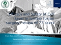 Safety And Efficacy Of Cell Saver In Lumbar Fusion Surgery: Review Of 77 Cases