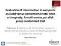 No Difference In Micromotion Of The Tibial Component In Computer Assisted Vs Conventional Total Knee Arthroplasty