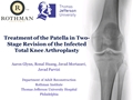 Treatment Of The Patella In Two-Stage Revision Of The Infected Total Knee Arthroplasty